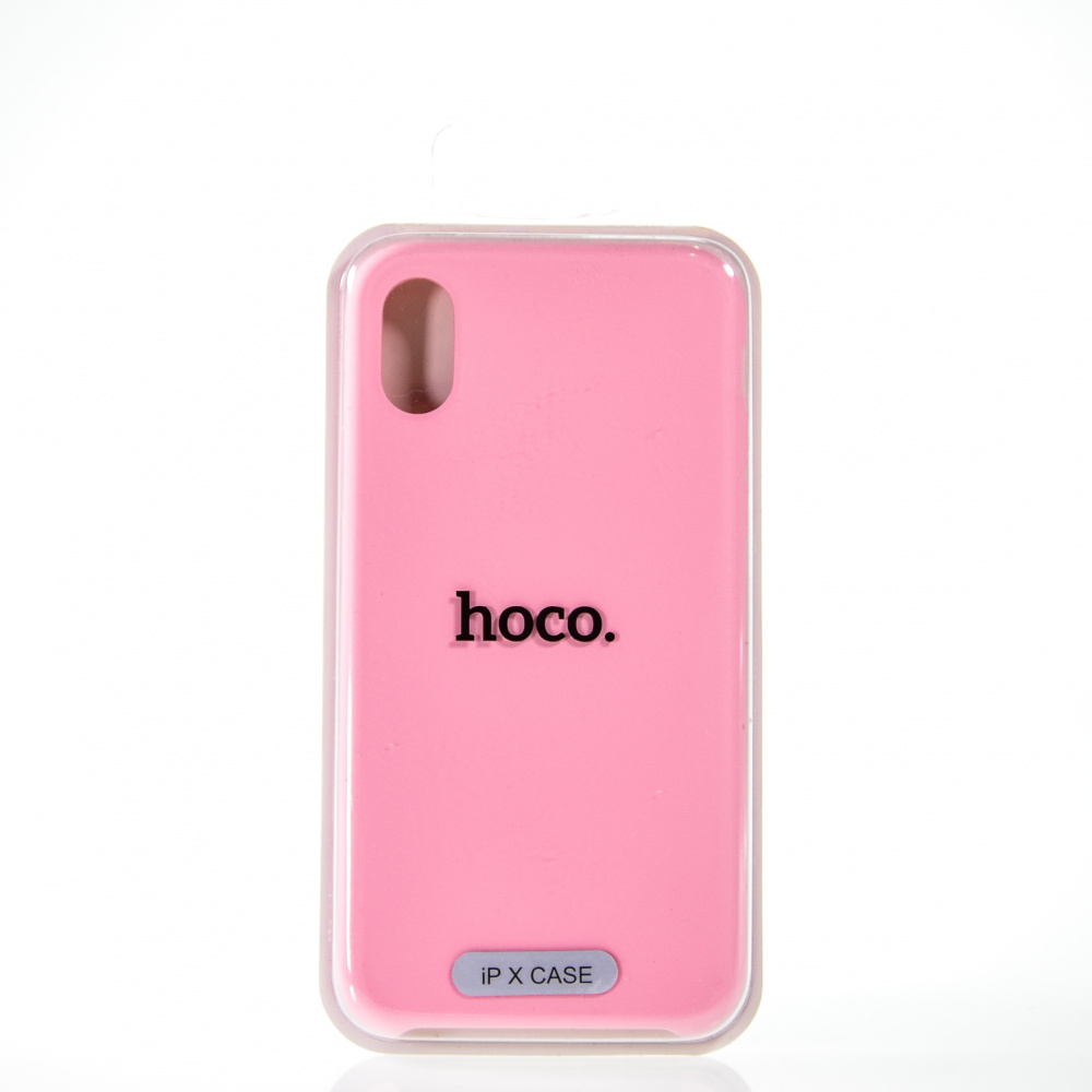 Накладка HOCO Original series silicon case for iPhone X (rose pink)