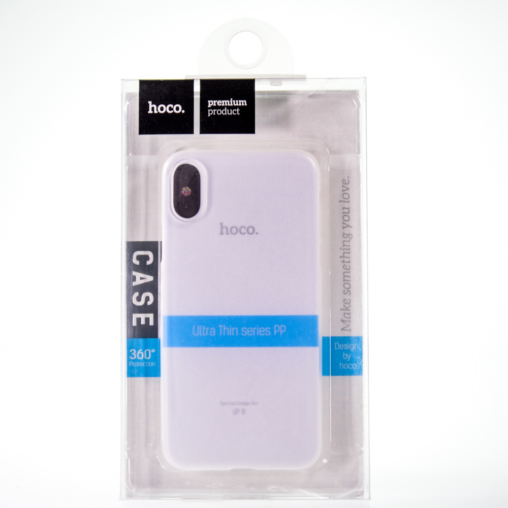 Накладка HOCO Thin Series Frosted для Х (Clear)