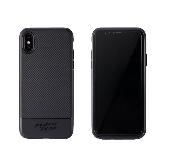 Накладка Remax iPhone X RM-1632 Carbon (Black)
